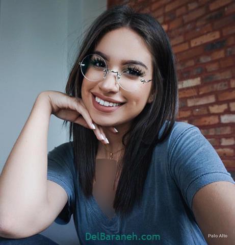 مدل عینک طبی دخترانه با فریم گرد