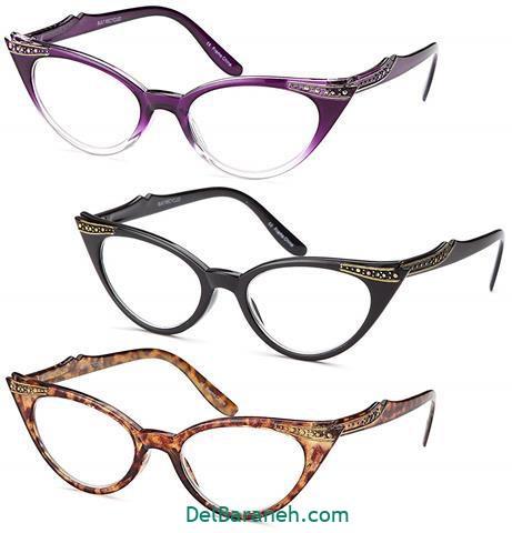 مدل عینک طبی دخترانه با فریم رنگی