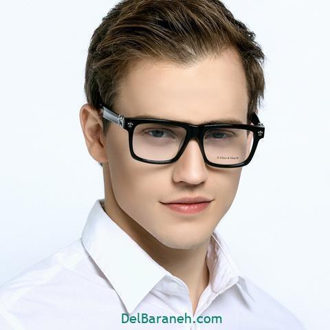 مدل عینک طبی مردانه برای صورت گرد