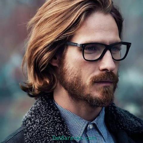 مدل عینک طبی مردانه برای صورت کشیده