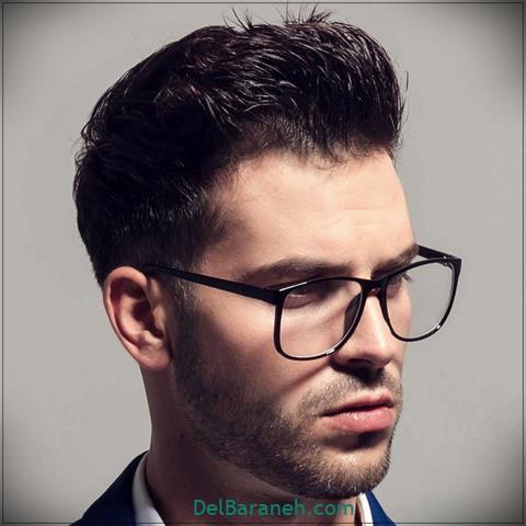 مدل عینک طبی مردانه با فریم مشکی