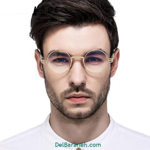 مدل عینک طبی طلایی گرد
