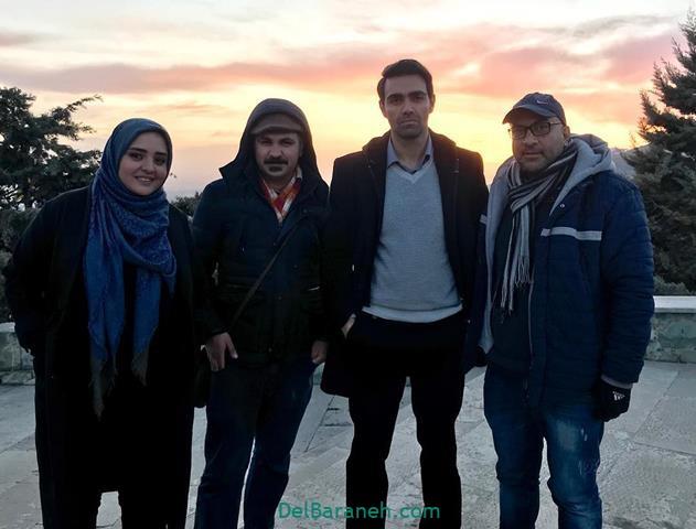 نرگس محمدی پشت صحنه سریال بوی باران