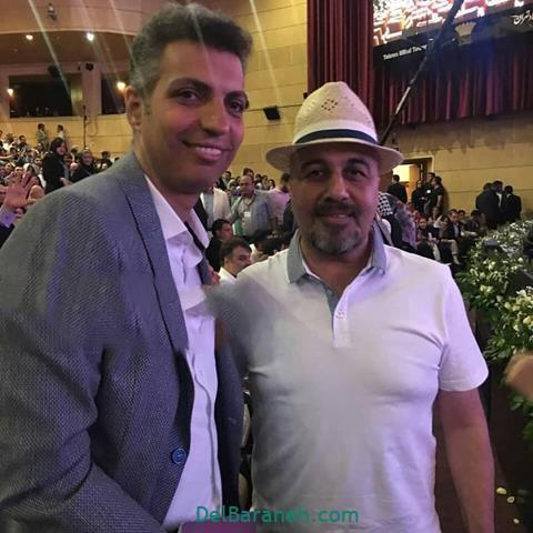 عکس رضا عطاران و عادل فردوسی پور در جشن حافظ 98