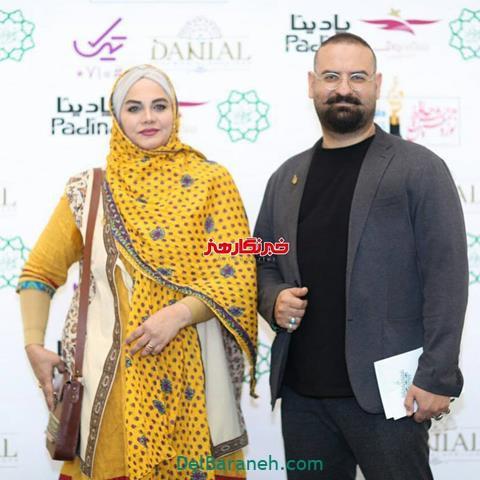 عکس نرگس آبیار و همسرش در جشن حافظ 98