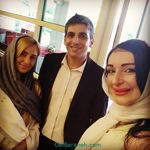 عکس حمید گودرزی و همسر جدیدش در جشن حافظ 98