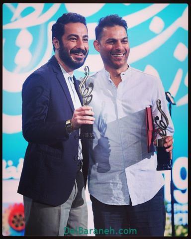 عکس نوید محمد زاده و پیمان معادی در جشن حافظ 98