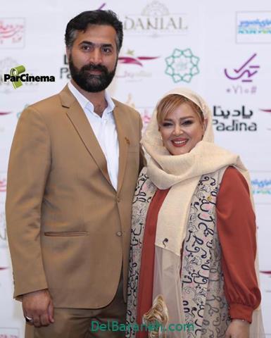 عکس بهاره رهنما و همسرش در جشن حافظ 98
