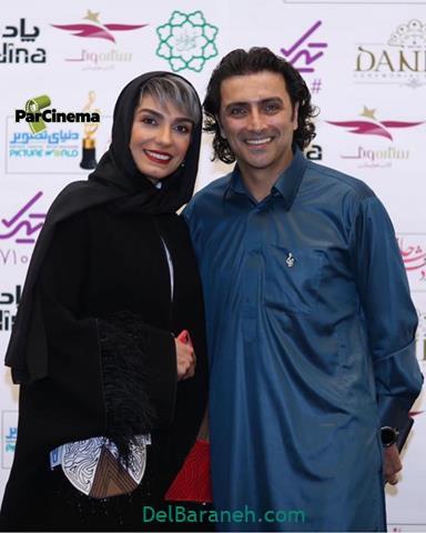 عکس امین زندگانی و الیکا عبدلرزاقی در جشن حافظ 98