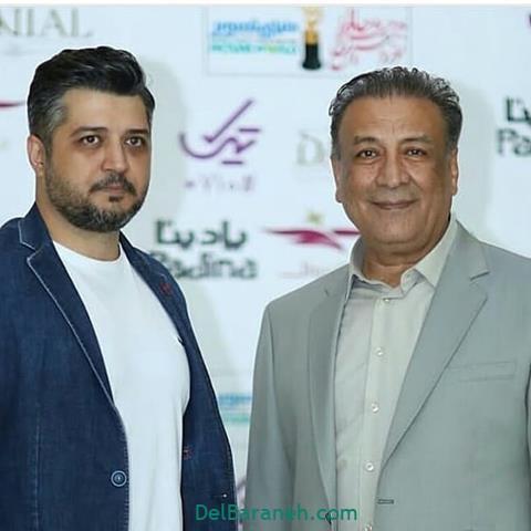 عکس پندار اکبری و پدرش در جشن حافظ 98