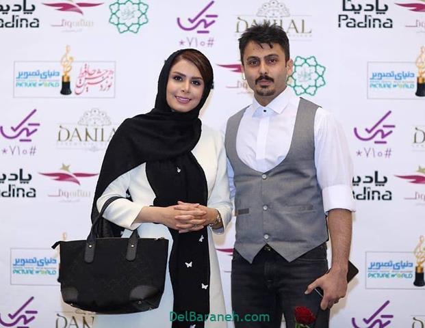 عکس نجمه جودکی و همسرش در جشن حافظ 98