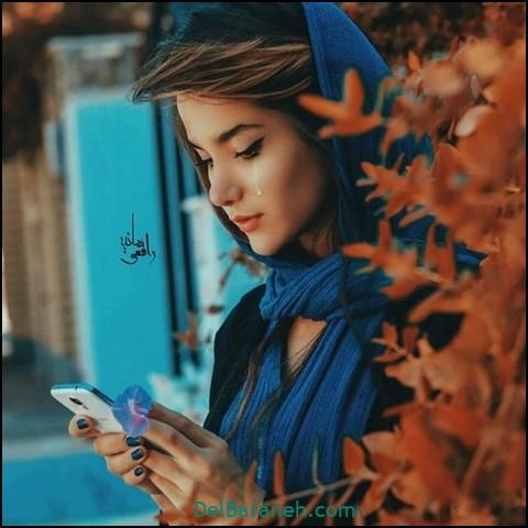 عکس دخترانه پاییزی غمگین