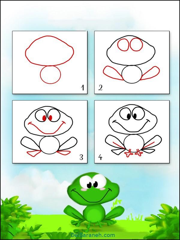 آموزش گام به گام نقاشی کودک (۱)