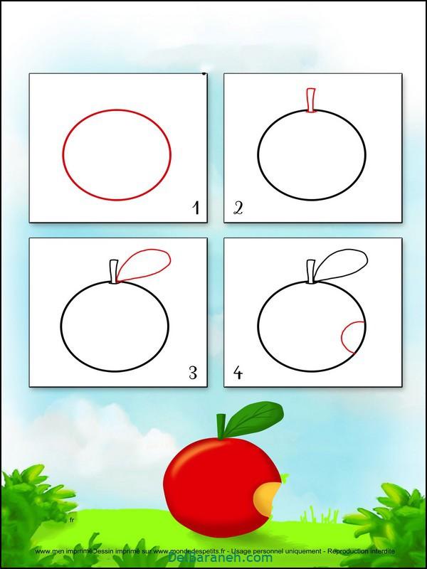 آموزش گام به گام نقاشی کودک (۱۱)
