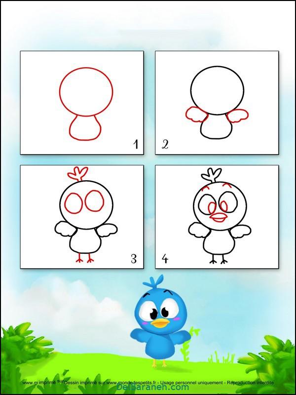 آموزش گام به گام نقاشی کودک (۱۳)