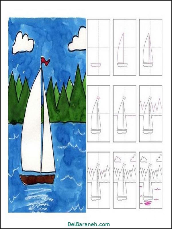 آموزش گام به گام نقاشی کودک (۲۰)