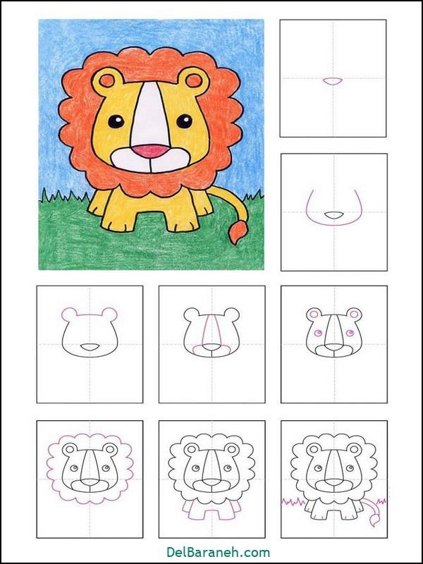 آموزش گام به گام نقاشی کودک (۲۹)