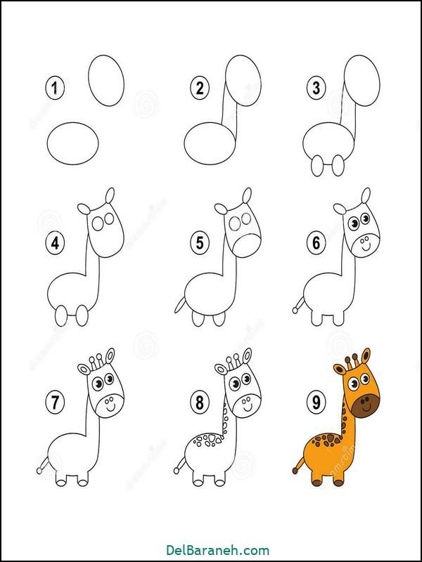 آموزش گام به گام نقاشی کودک (۳۳)