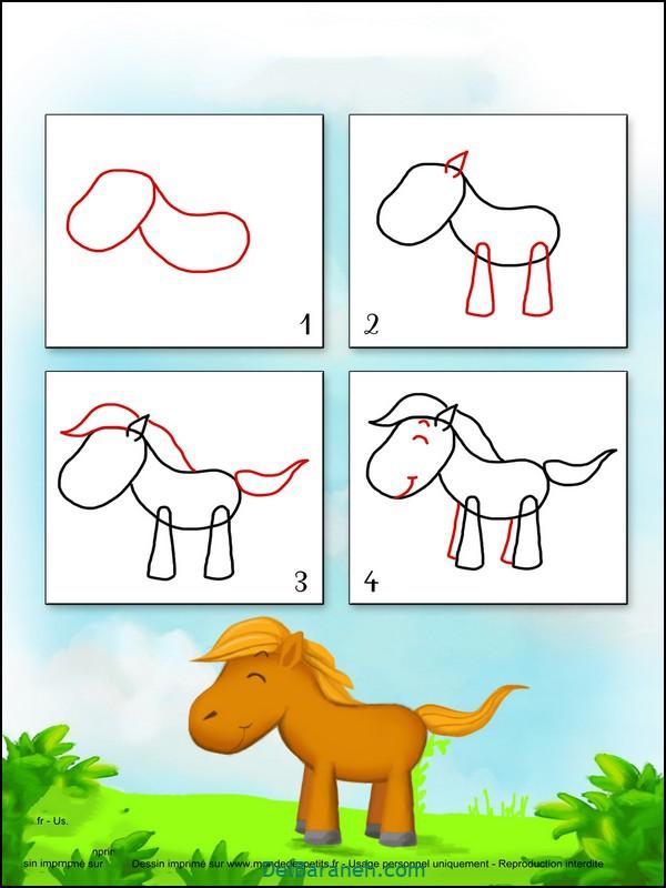 آموزش گام به گام نقاشی کودک (۴)