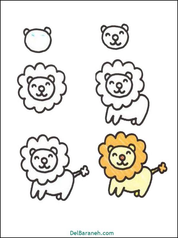 آموزش گام به گام نقاشی کودک (۵۴)