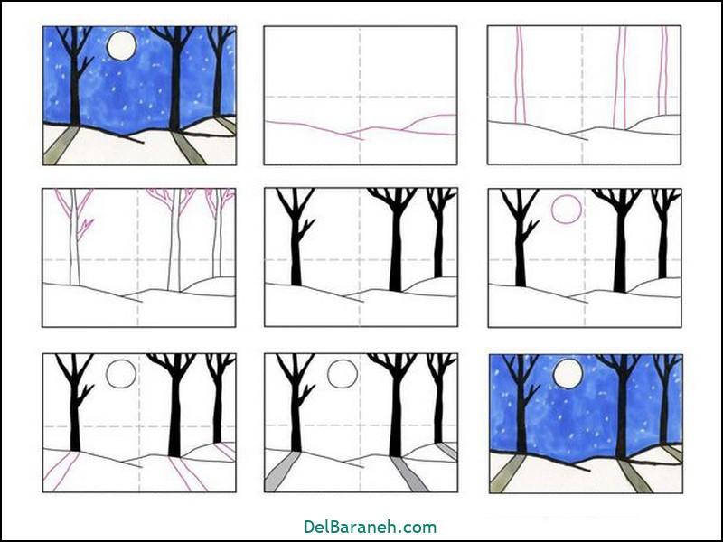 آموزش گام به گام نقاشی کودک (۸۲)