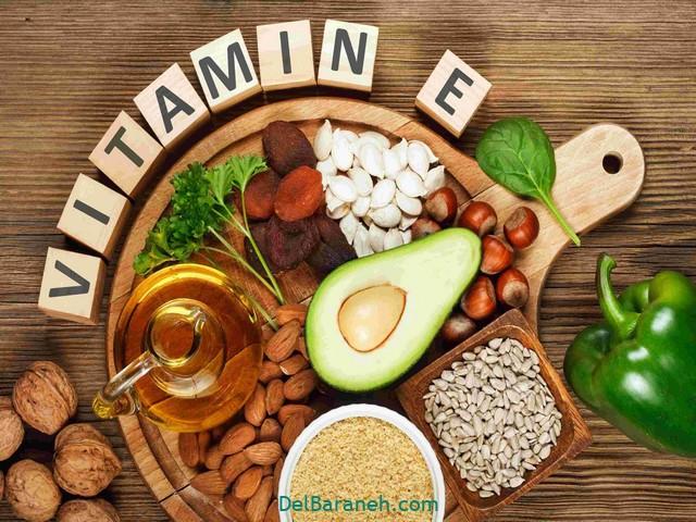 چه غذاهایی ویتامین E داره