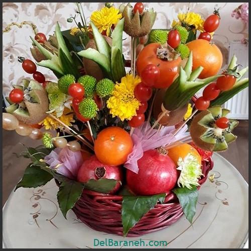 آموزش میوه آرایی شب یلدا (۱۰)