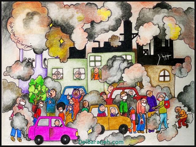 نقاشی کودکانه درباره تولد امام رضا