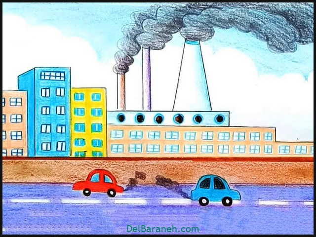 Colorful Drawing Environmental Pollution Color Pencil Drawing Ab
