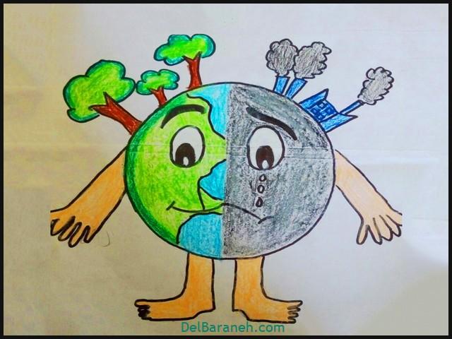 نقاشی کودکانه جشن تولد امام زمان