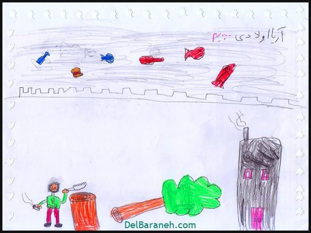 نقاشی کودکانه درباره ولادت حضرت محمد