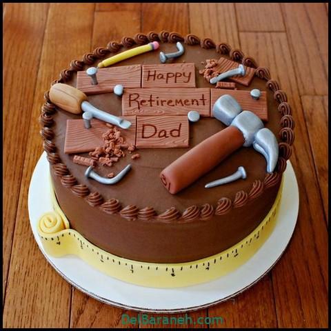 کیک روز مرد با خامه (۲)