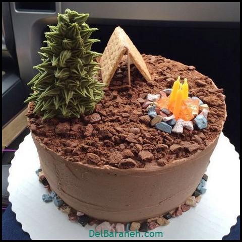 کیک روز مرد با فوندانت (۱۰)