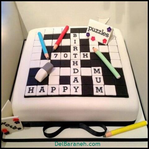 کیک روز مرد با فوندانت (۱۲)