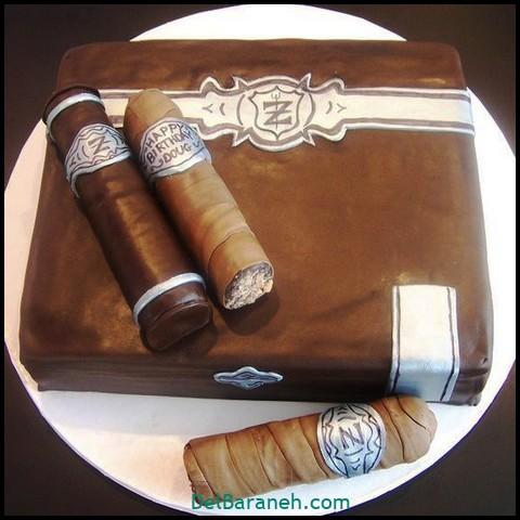 کیک روز مرد با فوندانت (۱۵)
