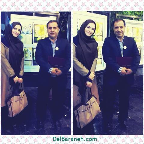 عکس زهرا خاتمی راد در کنار علی خسروی داور فوتبال