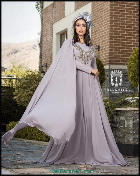 لباس شب پوشیده شیک (۴)