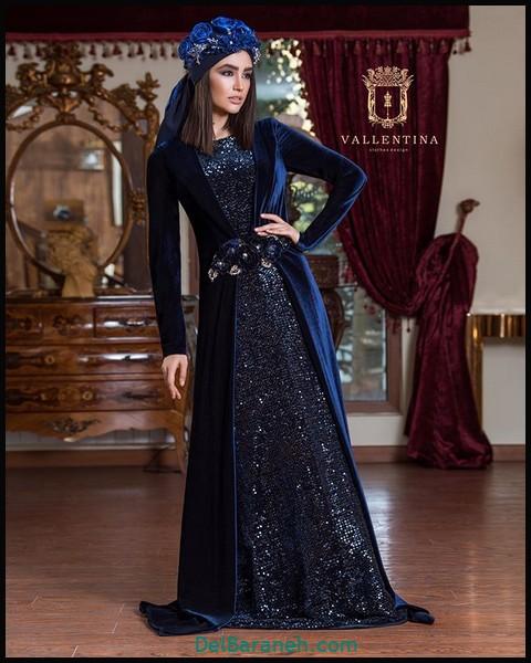 لباس شب پوشیده شیک (۶)