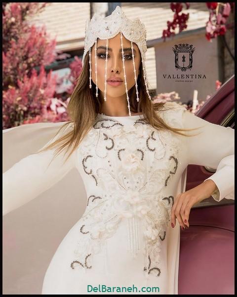 لباس شب پوشیده | ۷۰ مدل دخترانه لباس مجلسی حجاب اینستاگرامی