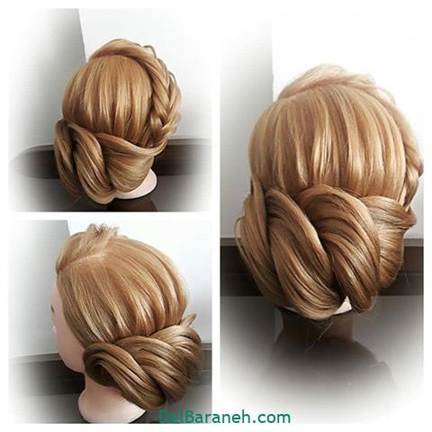 مدل شینیون بسته برای موی کوتاه