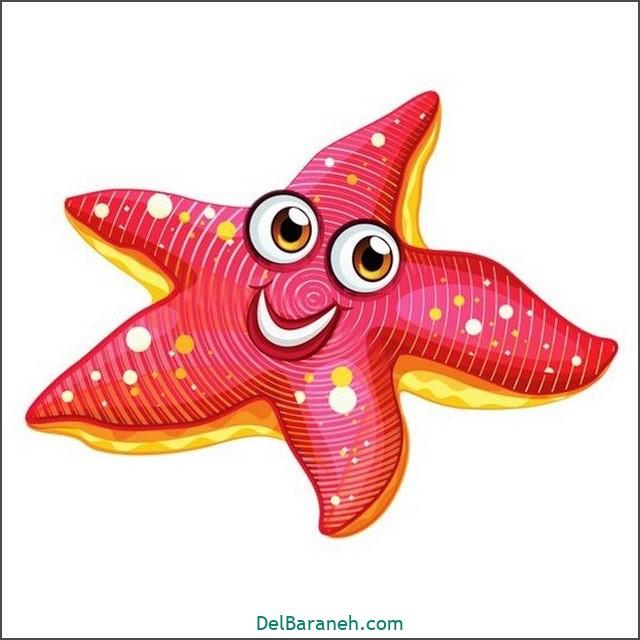 نقاشی حیوانات کودکانه (ستاره دریایی)