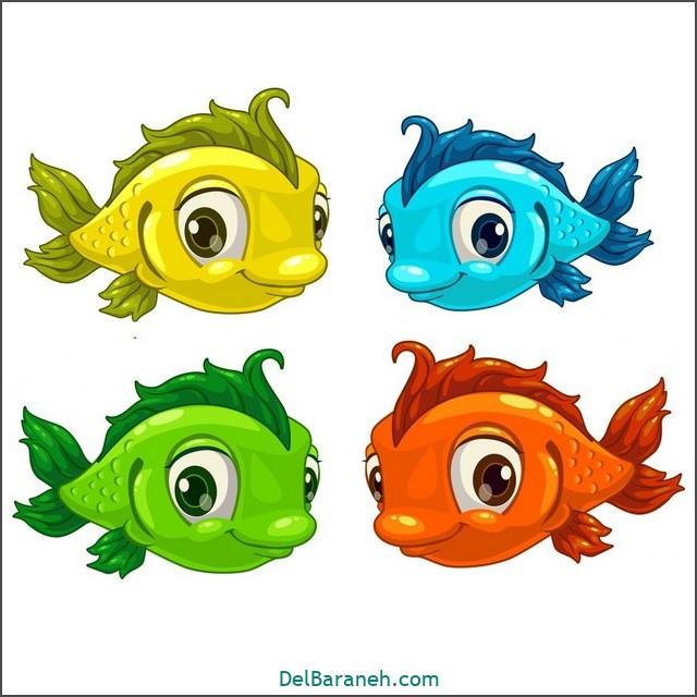 نقاشی حیوانات کودکانه (ماهی)