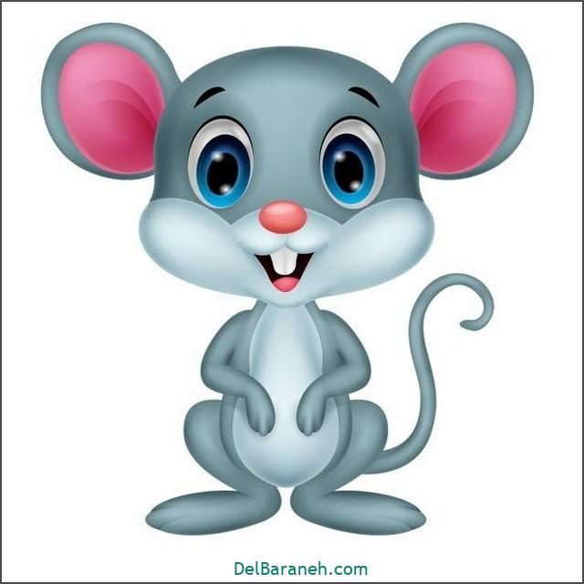 نقاشی حیوانات کودکانه (موش)