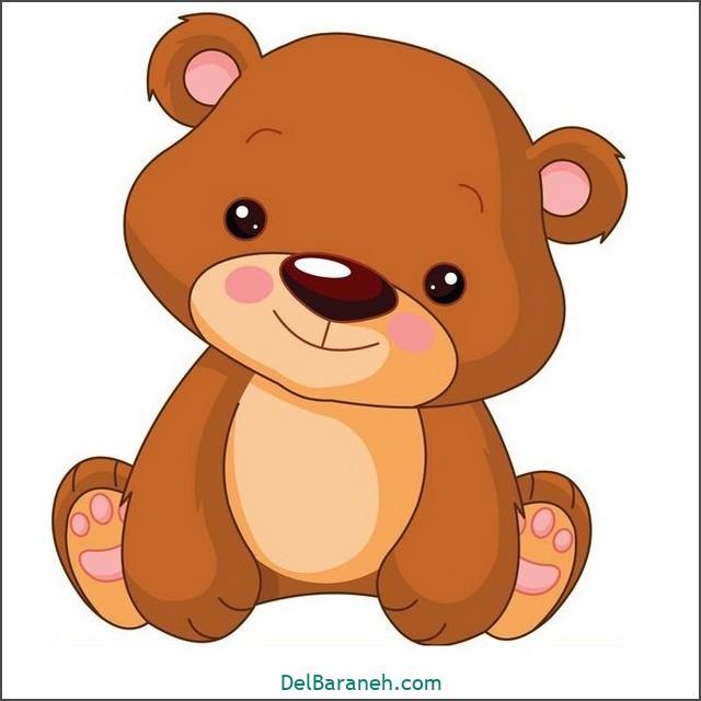 نقاشی خرس برای بچه ها (۲)