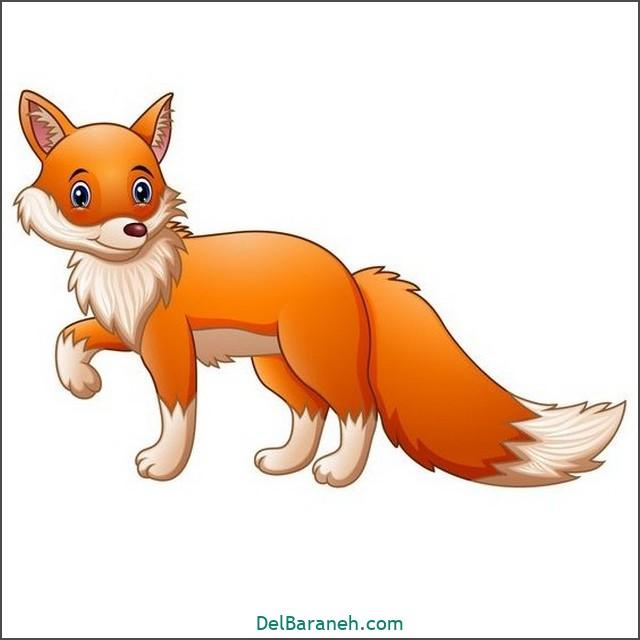 نقاشی روباه برای بچه ها (۱)