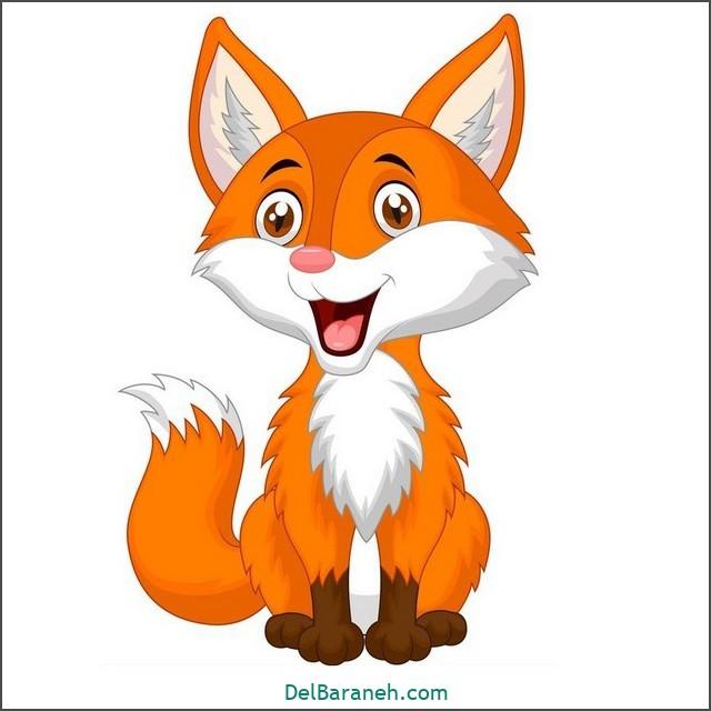 نقاشی روباه برای بچه ها (۲)