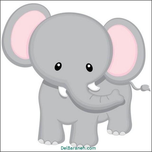 نقاشی فیل برای بچه ها (۱)