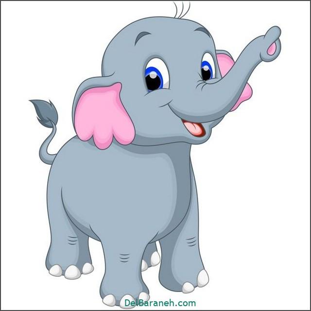 نقاشی فیل برای بچه ها (۲)