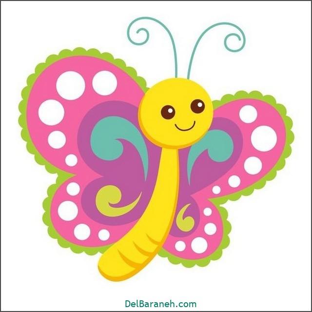 نقاشی پروانه برای بچه ها (۱)