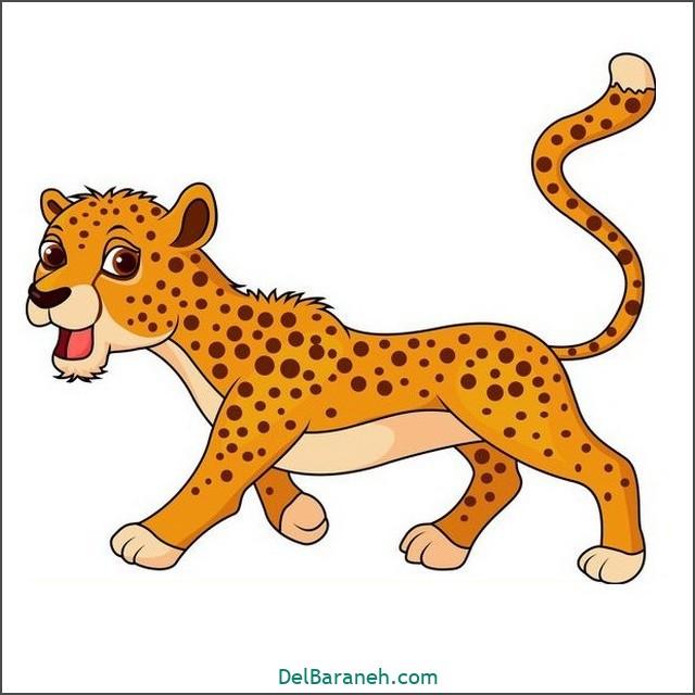 نقاشی پلنگ برای بچه ها (۱)